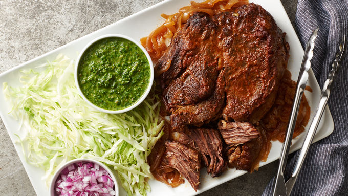 Slow-Cooker Pot Roast with Chimichurri