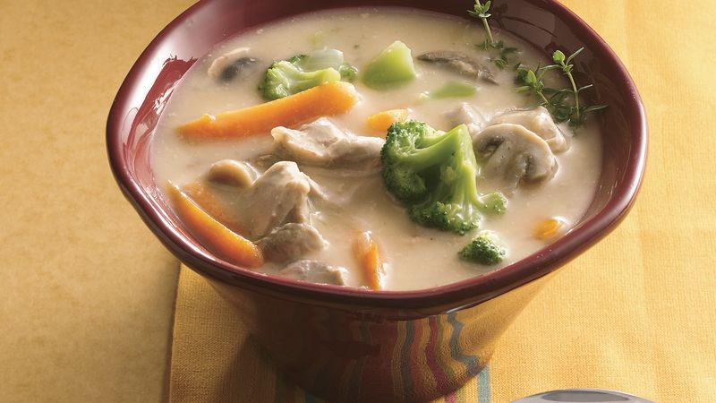 Slow-Cooker Chicken-Vegetable Chowder