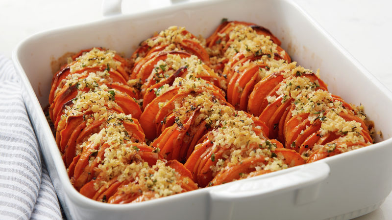 Hasselback Sweet Potato Casserole Recipe Bettycrocker Com