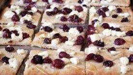 Roasted Grape, Chevre and Honey Flatbread