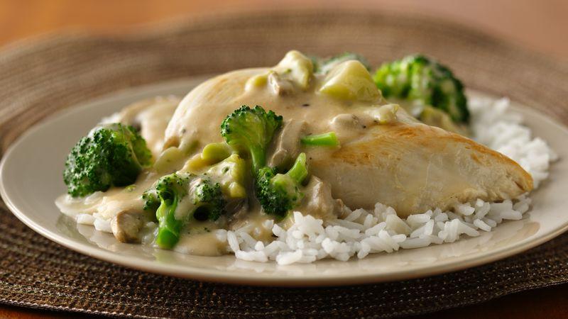 Skillet Chicken and Broccoli