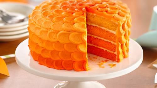 Miraculous Tangerine Ombre Cake Recipe Bettycrocker Com Funny Birthday Cards Online Hetedamsfinfo