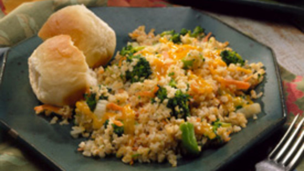 Bulgur Pilaf with Broccoli and Carrots
