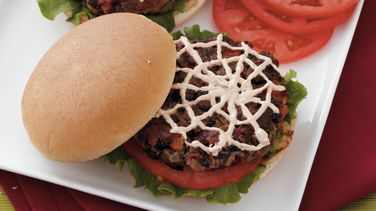 Spiderweb Black Bean Burgers