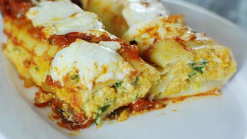 Sweet Potato Manicotti