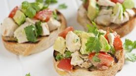 Spicy Grilled Chicken Bruschetta