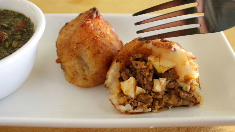 Colombian Stuffed Potatoes