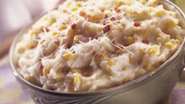 Easy Mashed Potatoes and Corn
