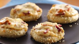 Gruyère-Bacon Pizza Minis