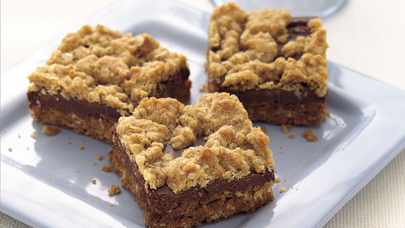 Chewy Chocolate-Oat Bars