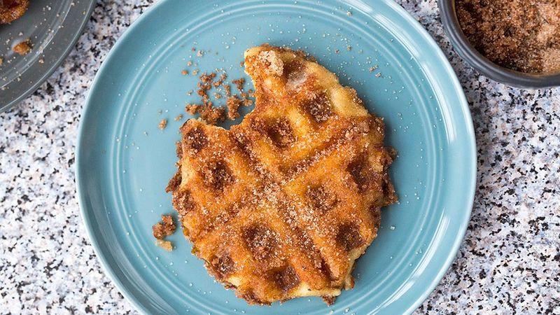 Cinnamon Sugar Waffle Pretzels