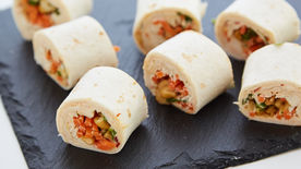 Asian Chicken Salad Roll-Ups