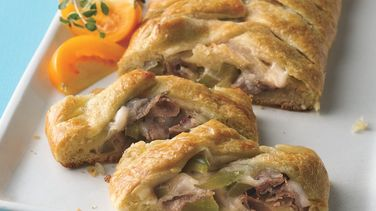 Cheesesteak Crescent Braids