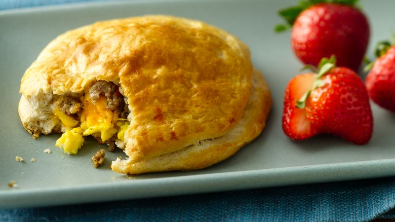 Sausage and Egg Biscuit Pies