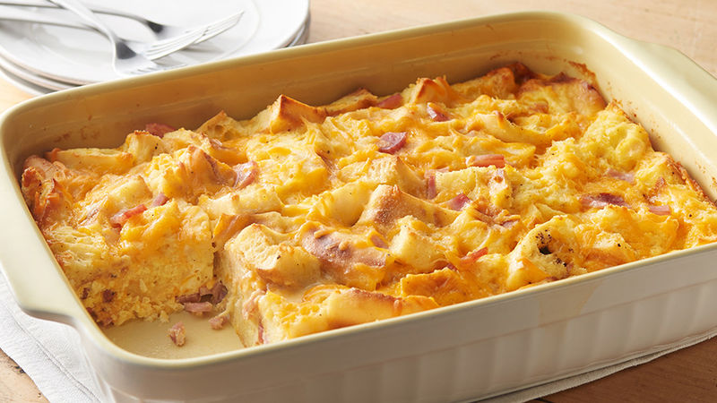 overnight egg muffin casserole recipe pillsbury com