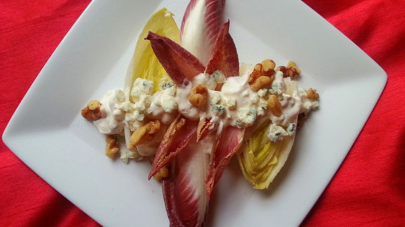Endive Salad with Roquefort Cheese