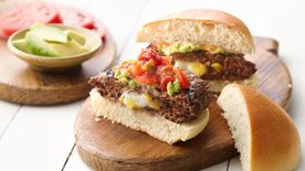 Stuffed Mexican Burgers