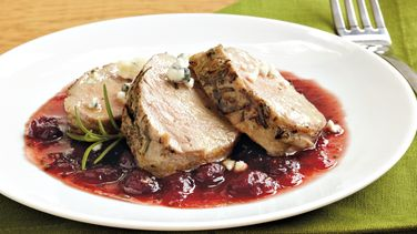 Pork with Cranberry-Port Sauce