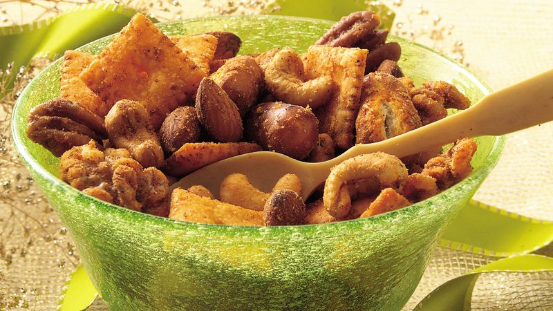 Slow-Cooker Spiced Party Nut Mix
