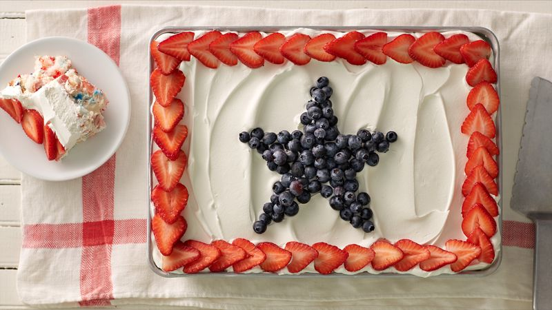Enjoyable Angel Food Pudding Cake With Berries Recipe Bettycrocker Com Personalised Birthday Cards Beptaeletsinfo