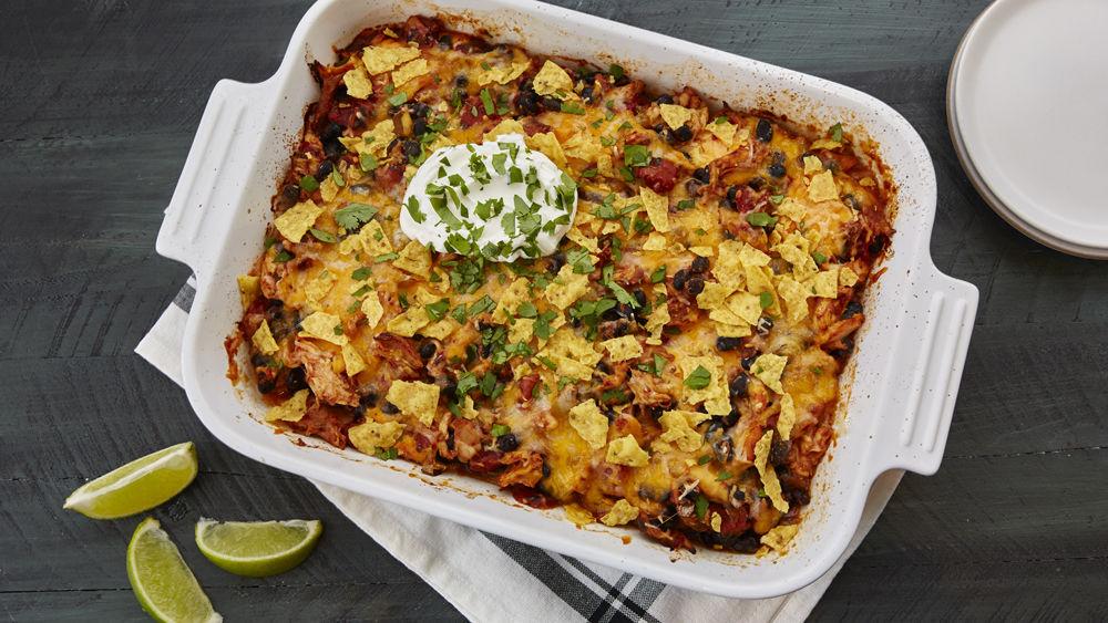 One-Dish Queso Chicken Casserole