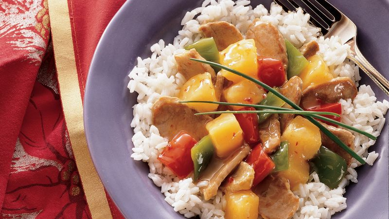 Sweet and Sour Pork Tenderloin
