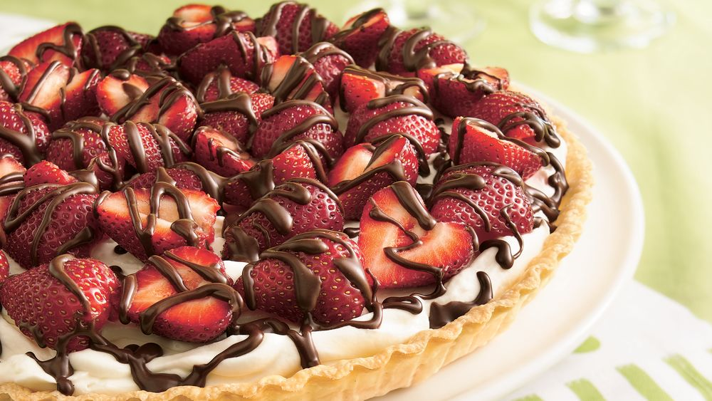 Strawberries and Cream Tart recipe from Pillsbury.com