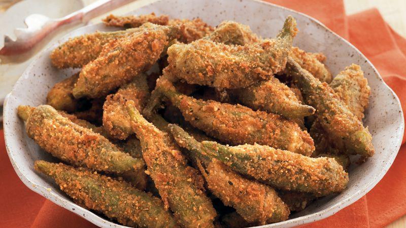 Fried Pecan Okra