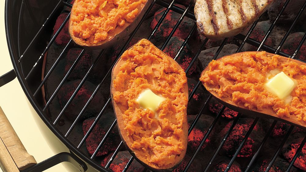 Orange and Ginger Stuffed Sweet Potatoes