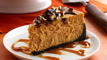 Turtle Pumpkin Cheesecake