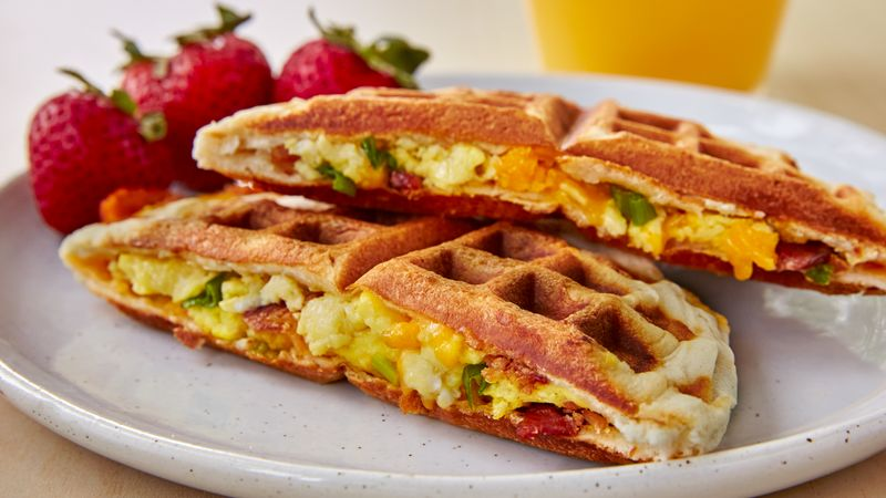 Bacon, Egg and Cheese Biscuit Wafflewiches