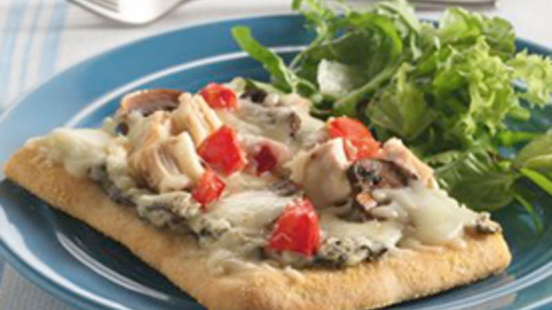 Chicken and Spinach Dip Pizza