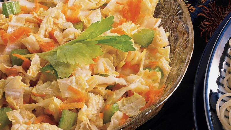 Carrot Celery And Chinese Cabbage Salad Recipe Pillsbury Com