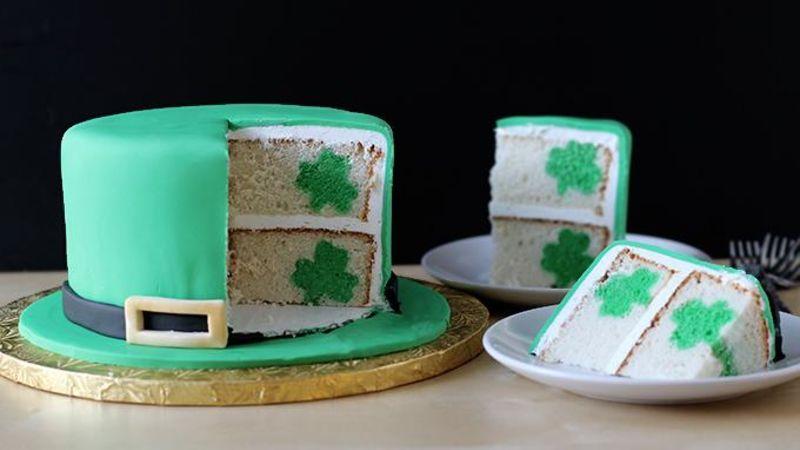 Leprechaun Hat Shamrock Surprise Cake