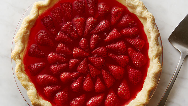 Retro Jello Strawberry Pie Recipe Tablespoon Com
