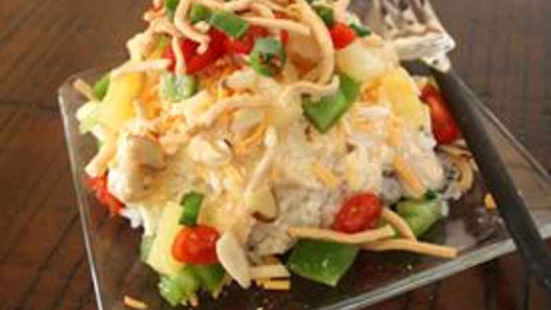 Slow-Cooker Chicken Haystacks