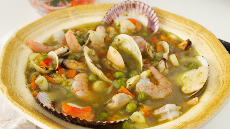Peruvian Seafood Aguadito