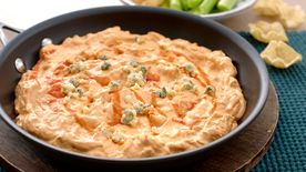 Mexican Buffalo Chicken Skillet Dip