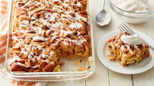 Pumpkin-Cinnamon Roll Bake