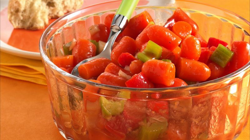 Marinated Carrot Salad Recipe Bettycrocker Com