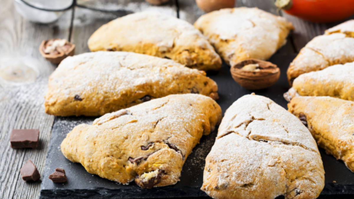Dark Chocolate Chunk 'n Cherry Scones