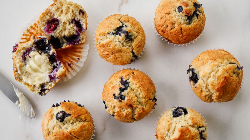 Banana-Blueberry Muffins