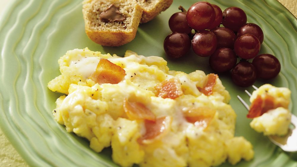 Scrambled Eggs Alfredo