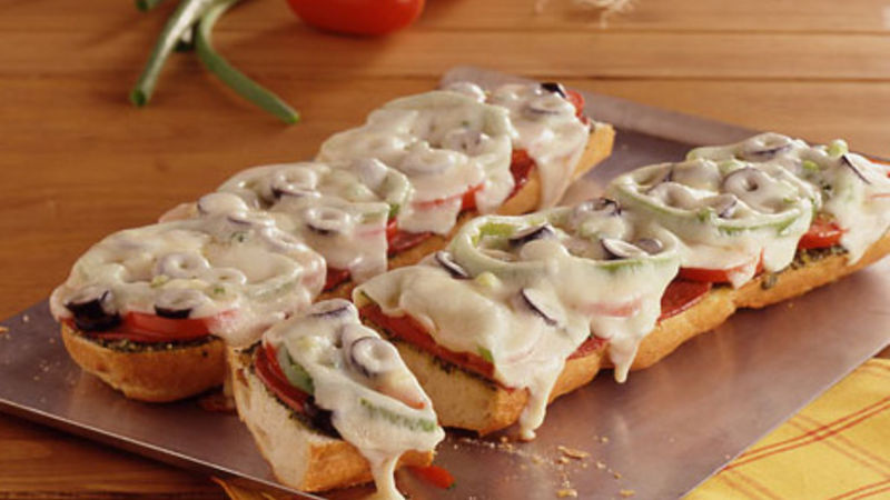 Antipasto French Bread Pizzas