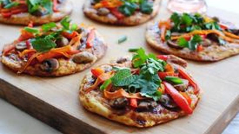 Veggie Asian Biscuit Pizzas