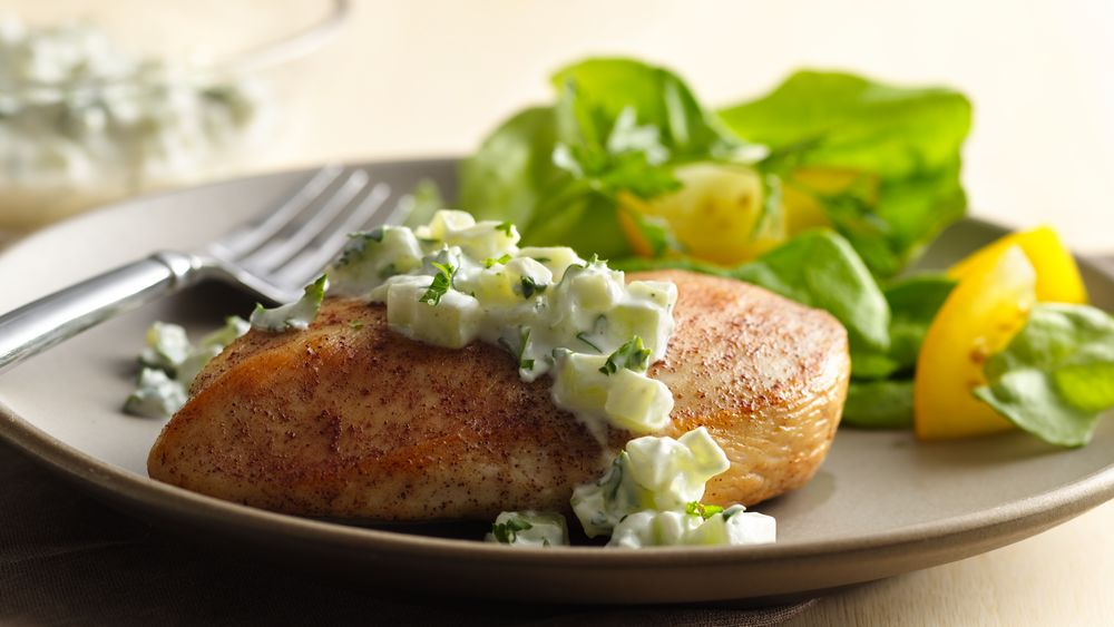 Greek Chicken with Yogurt Sauce