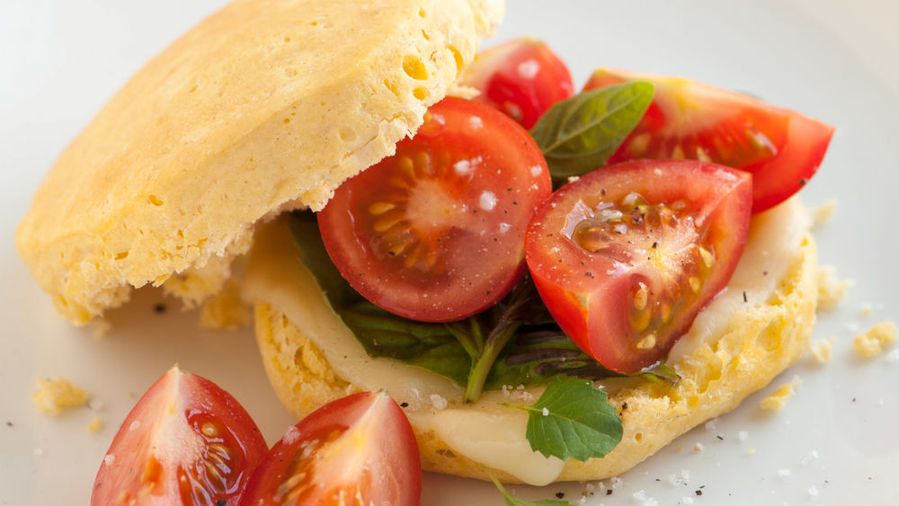 Caprese Honey Biscuit Sandwiches