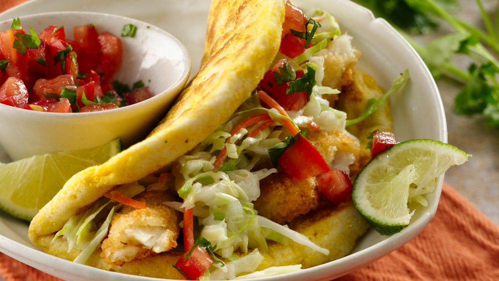 Grands easy fish tacos recipe from for Best fish taco recipe