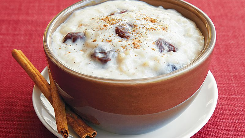 White Chocolate-Cherry Rice Pudding
