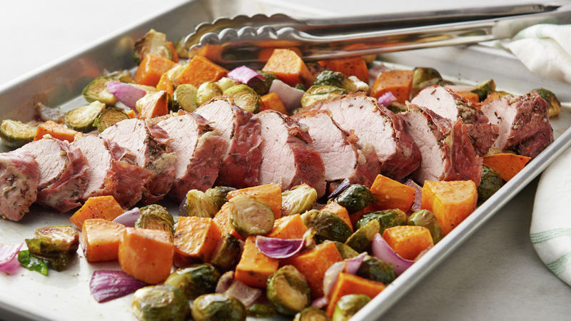 easy porchetta sheet pan dinner